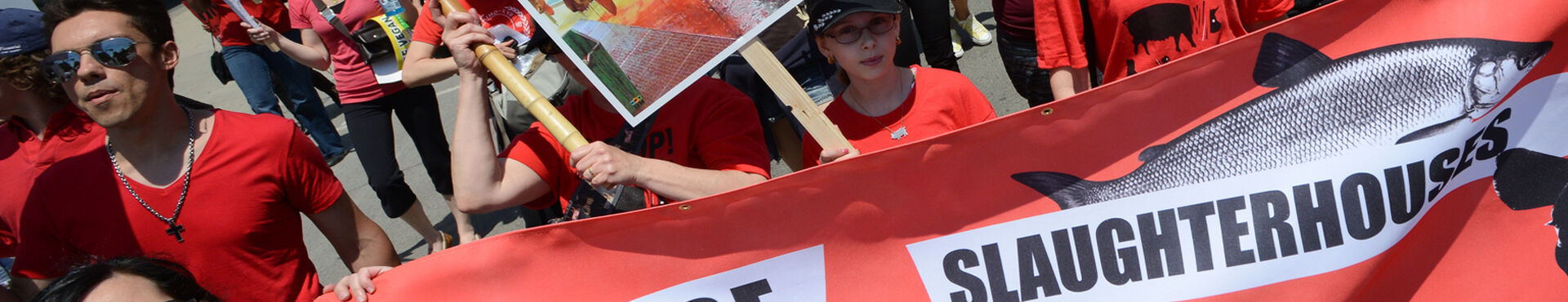 Banner - March to Close All Slaughterhouses