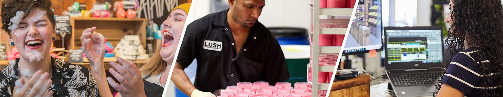 Banner - Start your career at Lush today!
