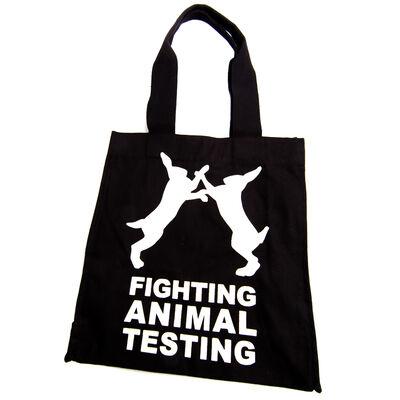 Sac Combattons les tests sur les animaux (Anglais)