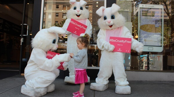 HSI's #BeCrueltyFree campaign in action